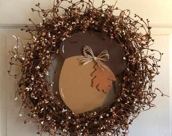 """18"""" Acorn Wreath"""