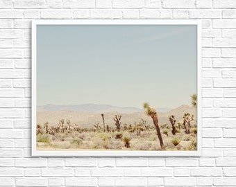 BUY 2 GET 1 FREE California Photography, Joshua Tree Photograph, Desert Photo, , Brown Tone, Yucca Tree, Home Decor - Explore Joshua Tree
