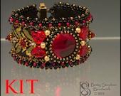 Totally Elegant Cuff Bracelet Kit red