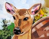Oh Dear, a Deer, 5x7 ORIGINAL COLLAGE ART