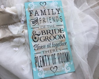 Weddings, wedding decor, Wedding sign, seating sign, Aqua blue
