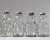 Snow Crest Bank Bottle Bears, Glass Vintage Bear Bank, Children's Banks, Teddy Bear Bank, Nursery Decor, Collectible Bottle Bank