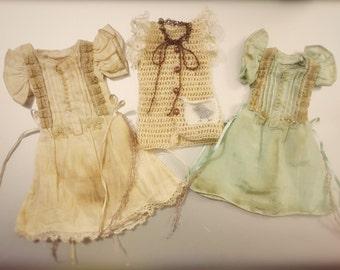 Jiajia Doll limited vinrage coffee dye rabbit set dress or bird handknit vest dress fit momoko or misaki or blythe