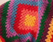 Rainbow baby afghan Pattern Crochet baby blanket Pattern