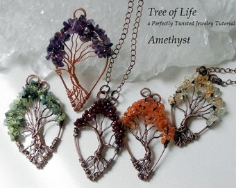 Wire Wrap Tutorial, Tree of Life Pendant, Learn how to wire wrap, DIY Wire Wrap Tree tutorial, How to wire wrap, Perfectly Twisted Jewelry