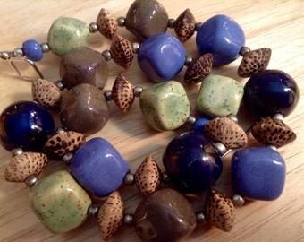 African Kazuri Bead Necklace Fair Trade