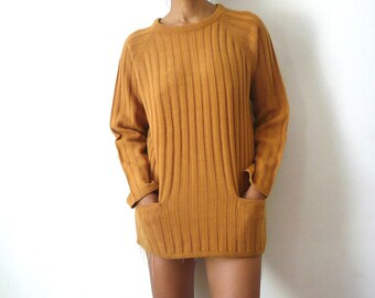 French Vintage Rusty Brown Sweater