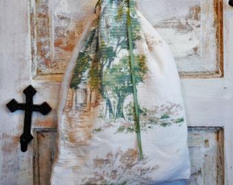 Linen Drawstring Lingerie Bag Inspired Loveliness The Wild Raspberry