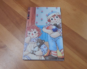 Up cycled Note Pad Raggedy Ann and Andy