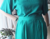 NEW old stock Argenti silk two piece dress Size 8    100% silk in green