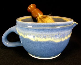 Lather Scuttle - Large Scuttle for Shaving - Lathering Scuttle - Lathering Bowl - Blue Scuttle - Shaving Scuttle - Gift for Him - InStock