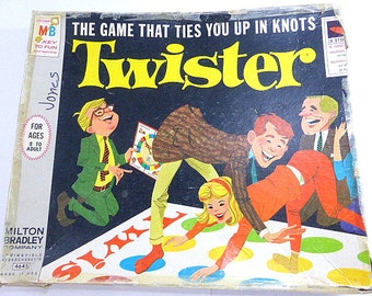 Vintage Milton Bradley Twister Game Family Game Night Vintage The Game That Ties You Up In Knots Complete Game Party Game Children to Adults
