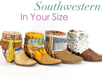 Decorated Boots Festival Boots Fringe Cowboy Boots Native Tribal Seashell Boots Custom Made To Order