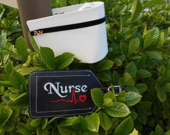 Leather Luggage Tag for Nurses