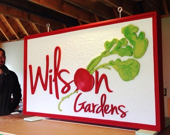 Hand Crafted Business Sign - Customized - Outdoor Farm Sign, Store, Restaurant, Cafe, Lodge, B&B, Trade show, HDU, Dimensional, personal