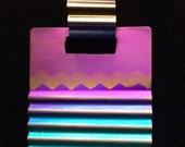 Textured Sunset Anodized Niobium Necklace Pendant (Custom Options Available)