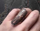 Keen Eye Dagger Ring - Copper - Alchemy - original design handmade by Jamie Spinello