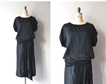 25% OFF SALE Metropolitan Aire dress | 1920s silk dress • vintage black 20s dress