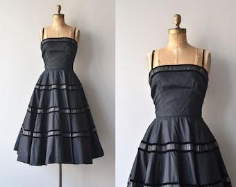 Libretto dress | vintage 1950s dress | black 50s party dress