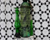 Green WITCHES BREW Potion Bottle Loads of Fun Detail