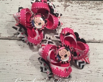 Minnie Mouse Disney Boutique bow Minnie Mouse pigtails bows set Disney boutique bows children accessories Disney