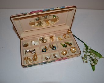 Clip Earring Collection in Travel Box........10 Pairs
