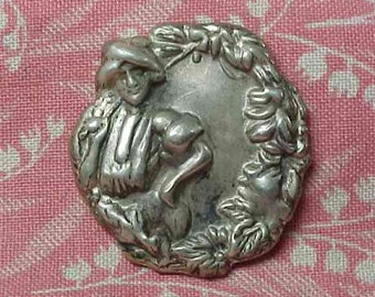 Victorian Art Nouveau Hat Pin Top only Sterling ?