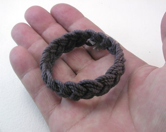 charcoal grey child size three strand rope bracelet sailor bracelet rope jewelry turks head knot bracelet small bracelet 4009