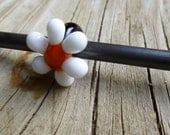 Glass Dread Bead, Daisy Bead 4, 5 or 6mm hole, Flower bead MADE TO ORDER