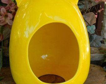 Chinchilla House  Cat Shaped  Ceramic Glazed Home  -