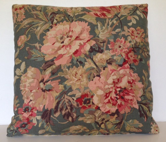 22 X 22 Bouquet Floral Square Throw Pillow Cover