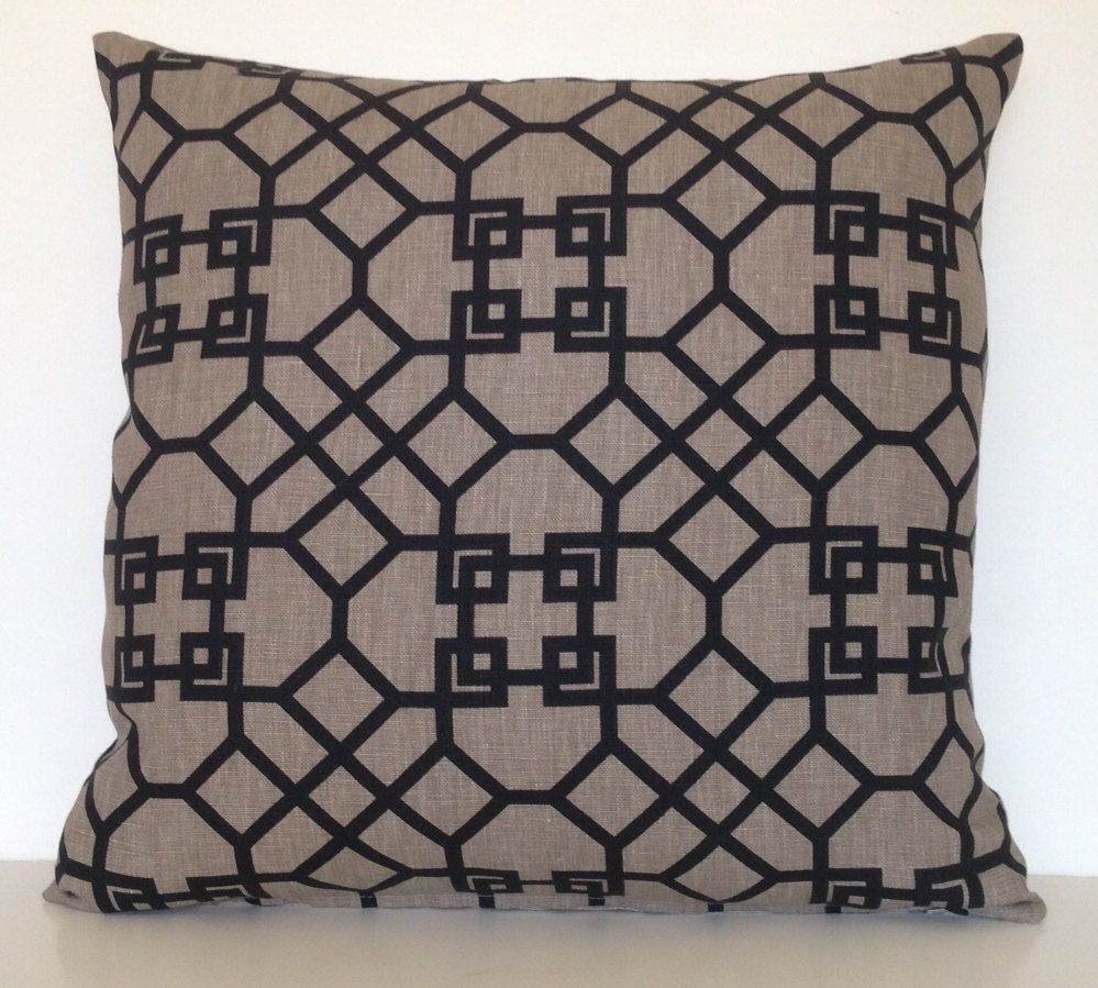 20 Square Throw Pillow Covers : 20 x 20 Kravet Square Throw Pillow Cover Geometric