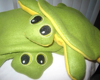 """Green Turtle 12"""" Toy Soft  Stuffed Animal  No Buttons Plush Travel Toy Nursery Softee Comfort Toy"""