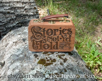 Stories Not Yet Told - wood box magic magical miniatures fairy house fairytale vintage steampunk dungeons dragons imagination storyteller