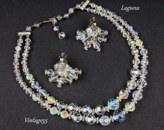 Necklace Set Crystal Beaded Laguna Earrings