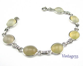Bracelet  Moonstone Yellow Sterling