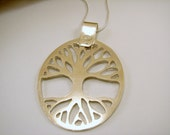 Sterling Silver Hand Cut Tree of Life Pendant, Handmade, Tree of Life Necklace, Sterling SIlver