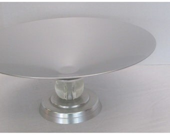 Art Deco Kensington Stratford Console Bowl Aluminum with Glass Ball Lurelle Guild 1934