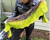 Neptune Rising Knitted Shawl Pattern