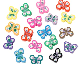 Polymer Clay Butterfly Mix - Set of 25 - #MP164