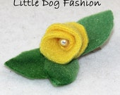 Yellow Rose Alligator Clips for small dogs
