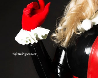 Harley Quinn Latex Wrist Cuffs