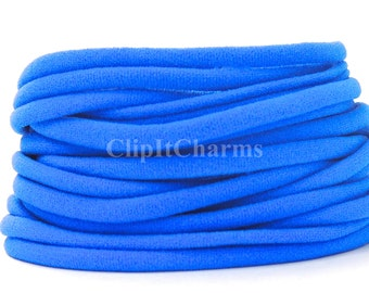 Wholesale .39+ Royal Blue Stretch Nylon Chokers...Use for bottle cap jewelry,pendants,charms, headbands/doubles as a bracelet or anklet....