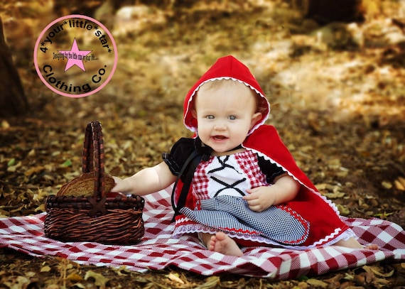 Little Red Riding Hood Costume Dress for babies