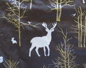 Minky Baby Blanket Nursery Stroller Gender Neutral  fabrics gift Violet Craft Brambleberry Ridge Deer Forst