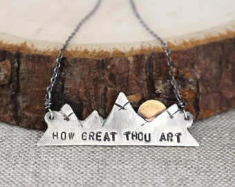 How Great Thou Art, Mountain Necklace, Silver
