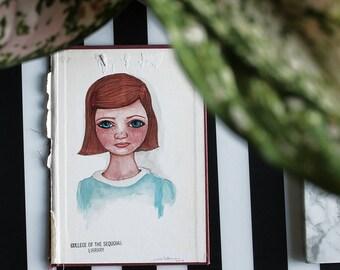 Em by Julie Tillman, original portrait of a young girl with freckles