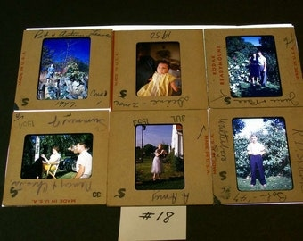 Kodachrome Slides 1940s 50s Mixed Lot Of 12 / No.18