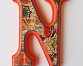Custom order M, Wall letter M in this style