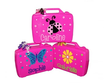 Personalized Carrying Case - Ladybug / Flower / Butterfly